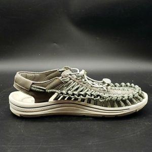 Keen Uneek Grey Round Cord Sandals Size 8.5